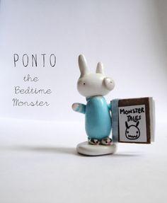 Ponto the Bedtime Monstertiny monster by carolineandoliver on Etsy.