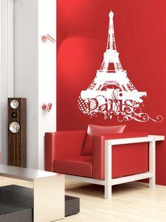 Paris Wall Decal ahhhhhhh I want!!!!! LOVE Paris!!!!!