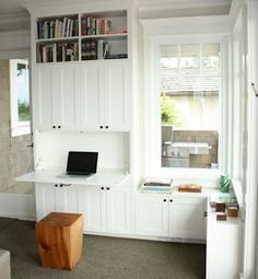 built in cabinets with fold down desk - Google Search