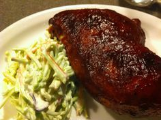 bbq chicken and slaw- pioneer woman's recipe
