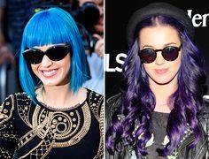I love Katy Perry's new dew.. ombre, purple hair!!