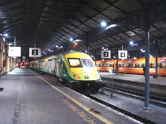 Hueston Station Dublin train to Cork Rail Train, Corporate Identity Design, Rolling Stock, Locomotive, Vintage Advertisements, Buses, Dublin, Cork, Ireland