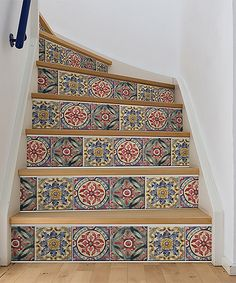 Dress up your stair risers and add dimension to your décor. These pieces install easily and leave behind no sticky residue. Single strip: 6.5'' W x 144'' LVinylSelf-adhesiveReposition and remove without sticky residueMade in the USA
