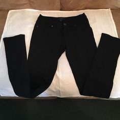 Black skinny jeans. Size Small made by LaBijou These black skinny jeans are partially spandex and are a size S. However because of the spandex in the material, they stretch nicely. They fit me when I bought them as a size 4 and  I gained 6 lbs and then became a size 5 and they still fit very nicely. I wore them about 4-5x and when I wore them it was to take photos. So I had them in for about 6 hours total combined 4-5x. The cotton is so comfy soft. Will bundle anything in my closet... Happy…
