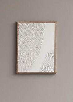 Wall of Art - Konstnärligt Art Print av Ida Vikfors - Mönster Diy Wall Art, Diy Art, Canvas Wall Art, White Canvas Art, Modern Wall Art, Textured Canvas Art, Plaster Art, Neutral Art, White Art