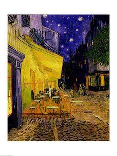 Van Gogh - Cafe Terrace, Place du Forum, Arles