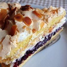 Himmelstorte mit Heidelbeer-Mascarpone-Füllung #Henchen-Lenchen-Torte