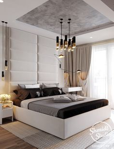 Inspirational ideas about Interior Interior Design and Home Decorating Style for Living Room Bedroom Kitchen and the entire home. Curated selection of home decor products. Home Interior Design, Bedroom Interior, Bed Furniture Design, House Interior, Bedroom False Ceiling Design, Furniture Design, Ceiling Design Bedroom, Interior, Luxurious Bedrooms
