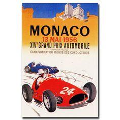 'Monaco 1956' Vintage Advertisement on Canvas