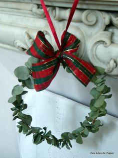 Guirlanda para o Natal com eucalipto perfumado.