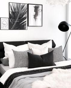 66 Ideas Bedroom Black And White Decor Design Monochrome Bedroom, White Bedroom Design, White Bedroom Decor, Bedroom Inspo, Bedroom Colors, Home Bedroom, Modern Bedroom, Bedroom Ideas, Bedroom Designs