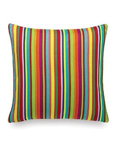 Buy Vitra Classic Pillows Maharam - Millerstripe Multicolored Bright by Alexander Girard, Alexander Girard, Charles & Ray Eames, George Nelson, Design Shop, Design Design, Fabric Design, Textiles, Duvet, Moma Collection