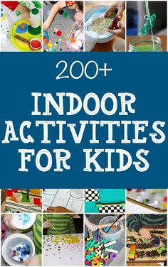 Hundreds of indoor activities for kids that are actually easy. Look like they are fun, too.