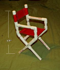 "Pvc Pipe Projects | Here is a little doll size directors chair I made with 1/2"" PVC."