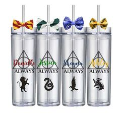 Custom Harry Potter Wedding Bridesmaid Groomsmen Gifts Tumblers House Cups Free Shipping by HoneydukeDesigns on Etsy https://www.etsy.com/listing/446554432/custom-harry-potter-wedding-bridesmaid