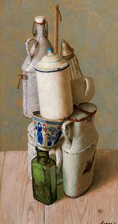 Art - Kenne Gregoire Stacking 2010 - still life quick heart Still Life 2, Still Life Photos, Be Still, Painting Still Life, Paintings I Love, Oil Paintings, Art Aquarelle, Everyday Objects, Illustration Art