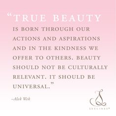 Loving this quote from the beautiful model Alek Wek. Happy #RandomActs of  Kindness Day from L'eclisse! #kindness