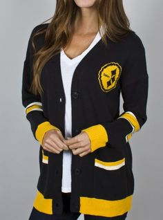 Junk Food Clothing - NFL Pittsburgh Steelers Unisex Intarsia Cardigan