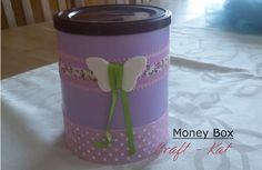 CRAFT-KAT Κουμπαράς /my handmade money box Money Box, Mugs, Tableware, Blog, Handmade, Crafts, Dinnerware, Hand Made, Tumbler