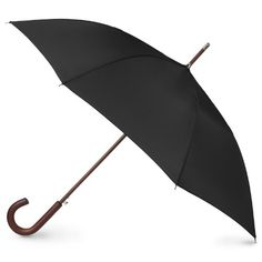 Totes Mens Blue Line Auto Wooden Stick Umbrella BlackBlack ** You can get additional details at the image link. (This is an affiliate link)