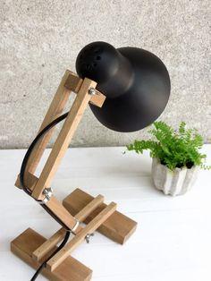 Geometric Lamp The Mehanik Table Lamp Night Light Desk by Paladim Bedside Table Lamps, Bedroom Lamps, Lamp Table, Bedroom Ideas, Diy Luz, Geometric Lamp, Best Desk Lamp, Rustic Lamps, Unique Lamps