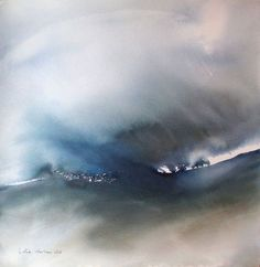 The only way I (Peinture), 56x56 cm par Muriel Buthier-Chartrain Aquarelle carrée