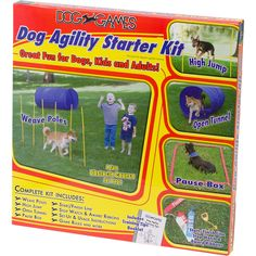 I've been looking for something like this! Kyjen Dog Agility Obstacle Course Starter Kit
