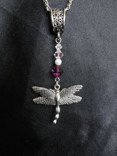 Outlander Inspired Dragonfly Necklace With by TheMagpizeNest