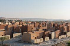השכונה החדשה בשדה בוקר, מבט מצפון. בדירות יש שניים עד ארבעה חדרים. חמשת הרחובות סגורים לתנועת כלי רכב. דמי השכירות: 1,000 עד 1,500 שקל בחודש ( צילום: אלי סינגלובסקי )