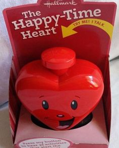 HALLMARK THE HAPPY-TIME HEART THAT TALKS-HEAR 25 ACTIVITIES BY PRESSING BUTTON-I