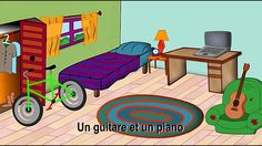 In my room - alain le lait Read In French, Learn French, French Teaching Resources, Teaching French, High School French, French For Beginners, French Songs, Core French, French Education