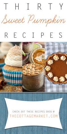 30 Sweet Pumpkin Dessert Recipes - The Cottage Market #PumpkinRecipes, #PumpikinDessertRecipes, #PumpkinDesserts, #PumpkinPieRecipes, #PumpkinCanolis, #Pumpkin, #SweetPumpkin