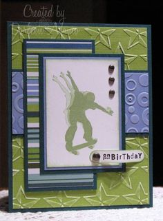 New sport crafts for teens birthday cards Ideas Birthday Cards For Boys, Masculine Birthday Cards, Bday Cards, Teen Birthday, Masculine Cards, Happy Birthday, 12th Birthday, Husband Birthday, Birthday Cakes