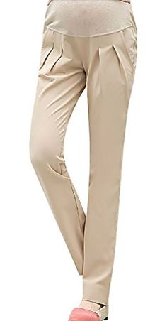 MTRNTY Womens Maternity Stylish High Elastic Waist Comfortable Capris Pants Khaki Pants Large >>> Check out the image by visiting the link. (This is an affiliate link and I receive a commission for the sales) Maternity Sleepwear, Maternity Pants, Maternity Fashion, Dress Collection, Elastic Waist, Fashion Brands, Capri Pants, Khaki Pants, Amazon