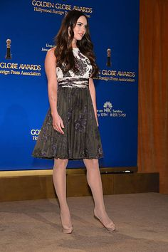 Actress Megan Fox speaks onstage at the 70th Annual Golden Globe Awards Nominations held at The Beverly Hilton Hotel on December 13 2012 in Beverly...