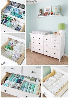 Dresser Organization Tips and tricks for an organized nursery dresser!Tips and tricks for an organized nursery dresser! Nursery Dresser Organization, Room Organization, Organizing Baby Dresser, Nursery Storage, Changing Table Organization, Organizing Baby Clothes, Organize Nursery, Organizing Ideas, Baby Clothes Storage