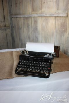 Instead of the normal sign-in book, they had a vintage typewriter to leave special notes to the bride and groom! I just loved that touch!!!