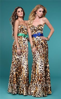 Leopard Bridesmaids with a pop of color.