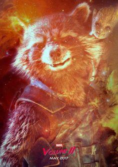 'Guardians of the Galaxy Vol.2' Rocket Poster Alejandro Hinojosa