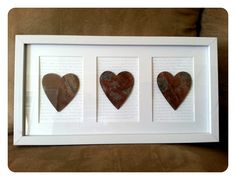 10th Anniversary Gift Traditional Is Tin I Found These Hearts Sitting
