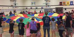 family fitness parachutes