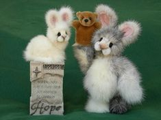 Gallery of other mink animals and creatures - Vintage Mink Bears by Kathy Myers
