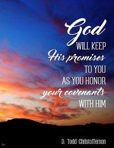 God will keep His promises