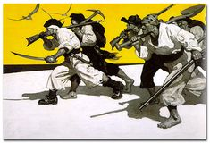 Illustration from the book Treasure Island by N.C. Wyeth