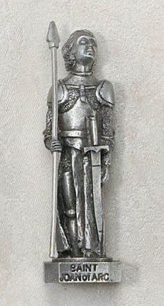 "Pewter 3"" Statue St. St Joan Of Arc by Hail Mary Gifts, http://www.amazon.com/dp/B0074QDADW/ref=cm_sw_r_pi_dp_r-JSpb1S29RXM"