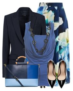 """""""Floral Skirt"""" by daiscat ❤ liked on Polyvore featuring Beulah, Theory, Wet Seal, Tory Burch, Zara and Trina Turk"""