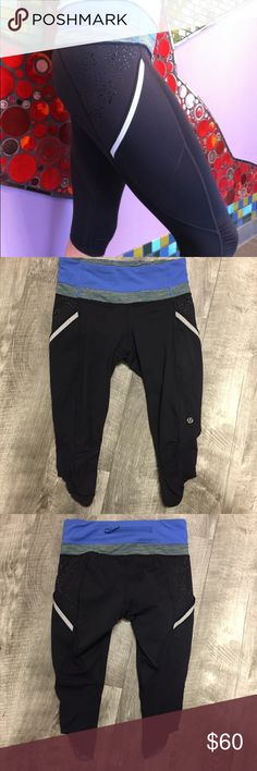 Lululemon Run A Marathon Crops 4 Lululemon Run A Marathon Crop in Porcelaine/Deep Coal. Size 4. Good used condition. Show normal wear but no major flaws. Slight pilling on seams. Check out my closet for other namebrand items to bundle with to save 15% and combined shipping. Price firm unless bundled. lululemon athletica Pants Ankle & Cropped
