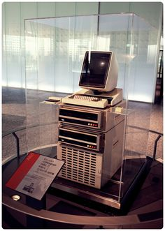 This is the Xerox Alto (The First Computers Designed for Individual Use), 1973, the computer that inspired the Macintosh. http://www.parallels.com/products/desktop