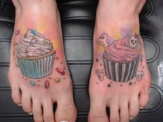 Good vs Bad Cupcake Tattoo