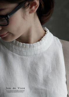 【楽天市場】【送料無料】Joie de Vivreハードマンズリネンワッシャー プリーツカラーブラウス:BerryStyleベリースタイル Churidar Neck Designs, Saree Blouse Neck Designs, Neckline Designs, Salwar Designs, Dress Neck Designs, Kurta Designs Women, Kurti Designs Party Wear, Blouse Patterns, Blouse Designs